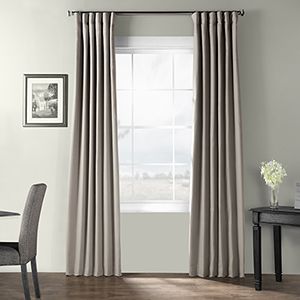 Bark Weave Rod Pocket Stardust Gray 50 x 120-Inch Curtain Single Panel