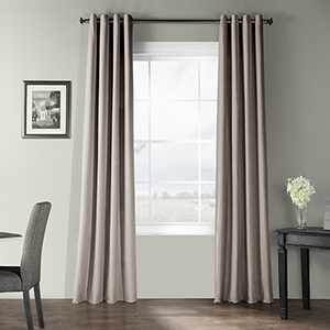 Bark Weave Grommet Stardust Gray 50 x 96-Inch Curtain Single Panel