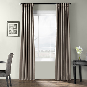 Bark Weave Rod Pocket Gray 50 x 108-Inch Curtain Single Panel
