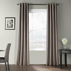 Bark Weave Grommet Gray 50 x 84-Inch Curtain Single Panel