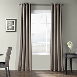 Bark Weave Grommet Gray 50 x 96-Inch Curtain Single Panel