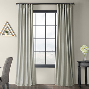 Solid Country Cotton Rod Pocket Shark Gray 50 x 120-Inch Curtain Single Panel