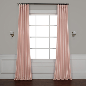 Salmon Rose 108 x 50-Inch Faux Silk Taffeta Curtain Single Panel