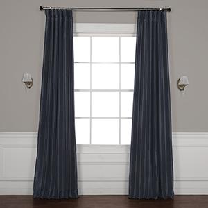 Arrowhead Grey Vintage Textured Faux Dupioni Silk Curtain - SAMPLE SWATCH ONLY