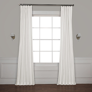 Whisper White 120 x 50-Inch Solid Cotton Blackout Curtain Single Panel