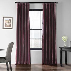 Blackout Faux Silk Taffeta Rod Pocket Purple 50 x 96-Inch Curtain Single Panel