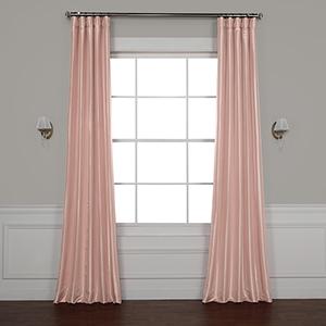 Salmon Rose 84 x 50-Inch Blackout Faux Silk Taffeta Curtain Single Panel