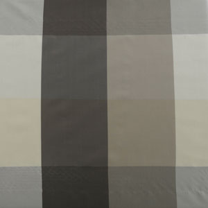 Grey Check Faux Silk Plaid Curtain - SAMPLE SWATCH ONLY