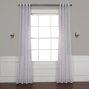 Steel Mountain 108 x 50-Inch Grommet Solid Faux Linen Sheer Curtain Single Panel