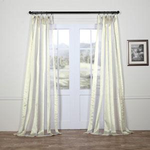 Gloss White Vertical Stripe Sheer 108 x 50 In. Curtain Single Panel