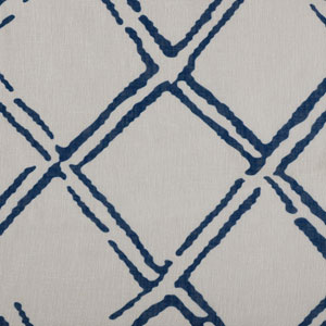Normandy Blue Printed Sheer - SAMPLE SWATCH ONLY