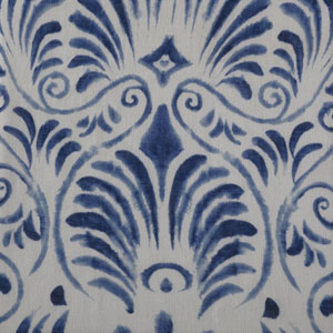 Xenia Blue Printed Sheer - SAMPLE SWATCH ONLY