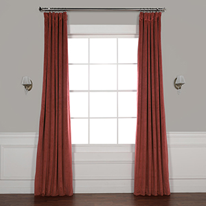 Crimson Rust 108 x 50-Inch Signature Blackout Velvet Curtain Single Panel