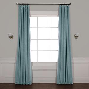 Skylark Blue 108 x 50-Inch Signature Blackout Velvet Curtain Single Panel
