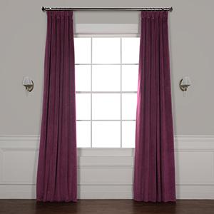 Cabernet 120 x 50-Inch Signature Blackout Velvet Curtain Single Panel