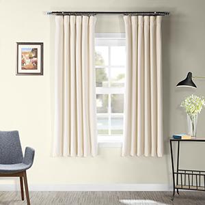 Ivory 63 x 50 In. Signature Blackout Velvet Curtain Single Panel