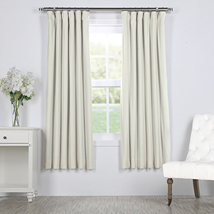 Porcelain White 63 x 50 In. Signature Blackout Velvet Curtain Single Panel