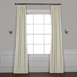 Neutral Ground 84 x 50-Inch Signature Blackout Velvet Curtain Single Panel