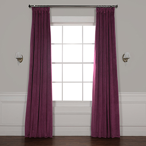 Cabernet 96 x 50-Inch Signature Blackout Velvet Curtain Single Panel