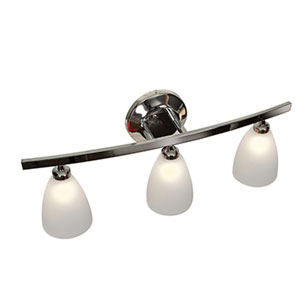 Sydney Chrome Three-Light Vanity with Frosted Glass