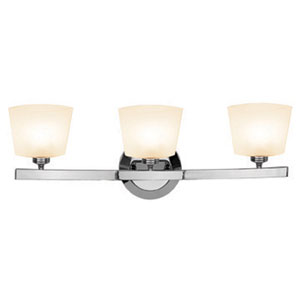 Sydney Chrome Three-Light Vanity with Opal Thea Glass