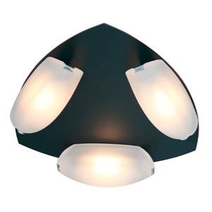Nido Oil Rubbed Bronze Three-Light Flush Mount with Frosted Glass