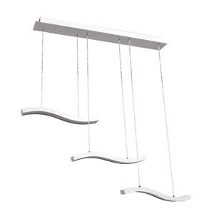 Ripple White LED Three-Bar Pendant