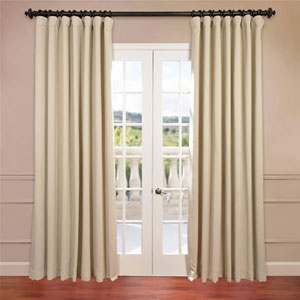 Stone 96 x 100-Inch Double Wide Blackout Curtain Single Panel