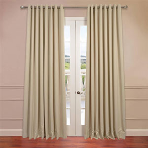 Stone 96 x 100-Inch Double Wide Grommet Blackout Curtain Single Panel