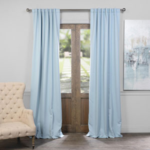 Frosted Blue 50 x 84-Inch Blackout Curtain