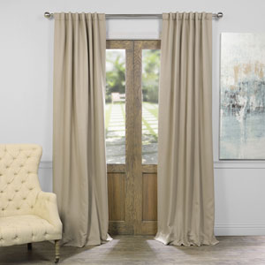 Selby Classic Taupe 120 x 50-Inch Blackout Curtain Panel Pair