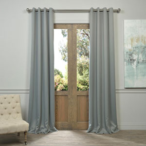 Grommet Grey 50 x 84-Inch Blackout Curtain Pair 2 Panel