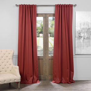 Brick Red 50 x 96-Inch Blackout Curtain