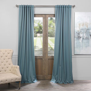 Dragonfly Teal 50 x 108-Inch Blackout Curtain