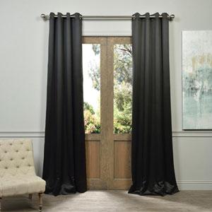 Jet Grommet Black 50 x 120-Inch Blackout Curtain Pair 2 Panel