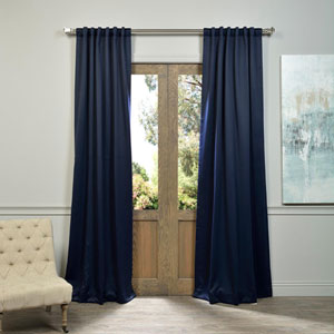Eclipse Navy 50 x 120-Inch Blackout Curtain Pair 2 Panel