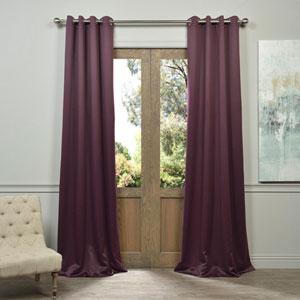 Aubergine Purple 96-Inch Blackout Curtain Pair 2 Panel