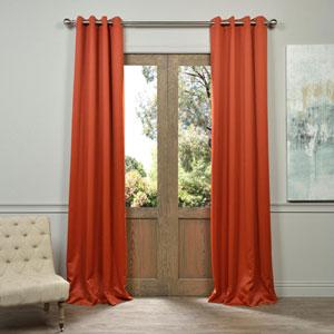 Blaze Orange 84-Inch Blackout Curtain Pair 2 Panel