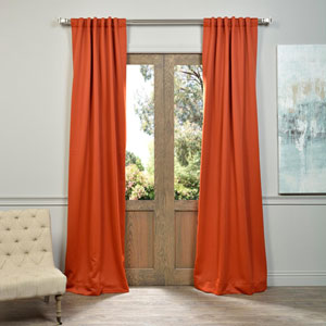 Blaze Orange 50 x 96-Inch Blackout Curtain Pair 2 Panel