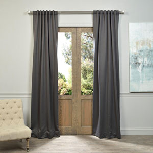 Charcoal 108 x 50-Inch Blackout Curtain Panel Pair