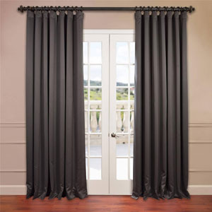 Charcoal 120 x 100-Inch Double Wide Blackout Curtain Single Panel