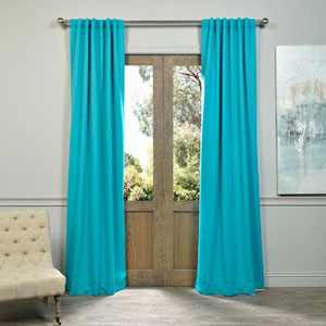 Aqua 120 x 50-Inch Blackout Curtain Panel Pair