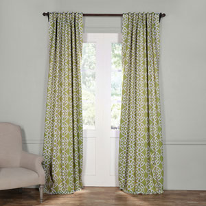 Secret Garden Leaf Green 96 x 50-Inch Blackout Curtain