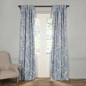 Tea Time China Blue 120 x 50-Inch Blackout Curtain