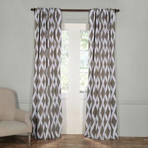 Crosshatch Gray 120 x 50-Inch Blackout Curtain