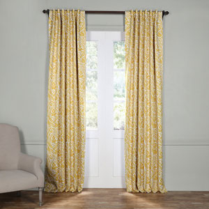 Abstract Yellow 84 x 50-Inch Blackout Curtain