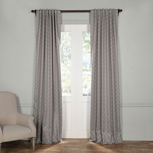 Cobblestone Taupe 96 x 50-Inch Blackout Curtain