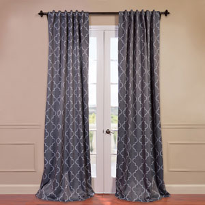 Seville Grey 50 x 96-Inch Blackout Curtain