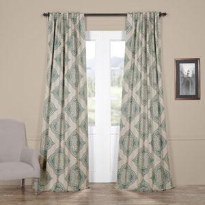 Henna Teal 120 x 50-Inch Blackout Curtain Single Panel