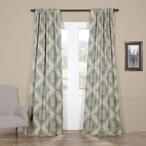 Henna Teal 84 x 50-Inch Blackout Curtain Single Panel